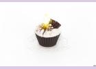 """Свеча """"пирожное"""" ручной работы CHOCOLATE  d8 h6 смTM Aromatte"""