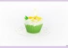 """Свеча """"пирожное"""" ручной работы GREEN TEA, d8 h6 смTM Aromatte"""