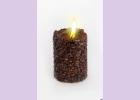 Свеча-эко ручной работы COFFEE с зернами и ароматом кофе, d8 h10 см круглая TM Aromatte