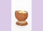 Свеча-эко ручной работы COCONUT в скорлупе кокоса с ванилью d 8-10 h 9-12 см TM Aromatte