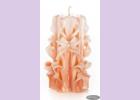 Свеча-резная ручной работы LACE CORAL-S (кружева коралл), h 9 см TM Aromatte