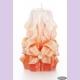 Свеча-резная ручной работы LACE CORAL-M (кружева коралл), h 11 см TM Aromatte