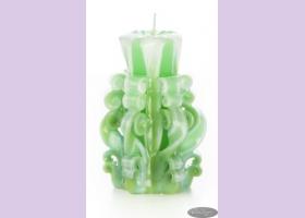 Свеча-резная ручной работы LACE FRESH-S (кружева свежести), h 9 см TM Aromatte