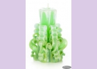 Свеча-резная ручной работы LACE FRESH-M (кружева свежести), h 11 см TM Aromatte
