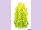 Свеча-резная ручной работы LACE LIME-M (кружева лайм), h 11 см TM Aromatte