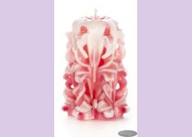 Свеча-резная ручной работы LACE ROSE-S (кружева розы), h 9 см TM Aromatte
