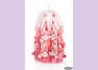 Свеча-резная ручной работы LACE ROSE-M (кружева розы), h 11 см TM Aromatte