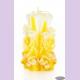 Свеча-резная ручной работы LACE SUN-S (кружева солнца), h 9 см TM Aromatte