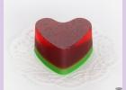 Мыло ручной работы пирожное/сердце КЛУБНИЧНОЕ, 90 гр
