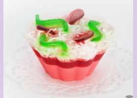 Мыльное ассорти/пирожное ВИШНЕВЫЙ ДЕСЕРТ, 90 гр