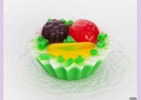 Мыльное ассорти/пирожное КОРЗИНКА ФРУКТОВАЯ, 108 гр/шт