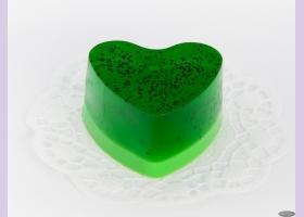 Мыло ручной работы пирожное/сердце КИВИ, 90 гр