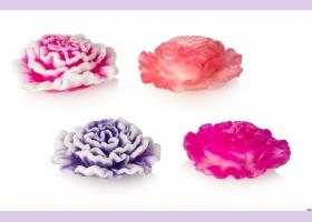 Мыло ручной работы/цветок 3D  ГВОЗДИКА, 65 гр.