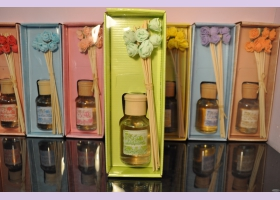 "Арома-диффузер ""цветы"" LEMON GRAPEFRUIT (лимон-грейпфрут) для дома, 100 мл."