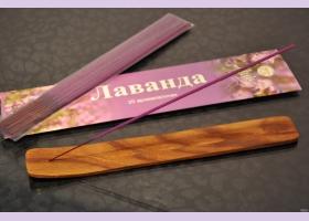Подставка для аромапалочек ЛЫЖА/ деревянная 1 шт.