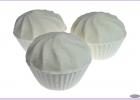 Бурлящий шар-МАФФИН(молочный) КОЗЬЕ МОЛОКО/арома-средство для ванн/150 гр./Мыловаров ТМ