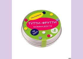 Бальзам для губ ТУТТИ-ФРУТТИ /масло твердое, 10гр./Мыловаров ТМ