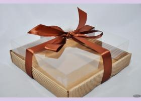 Коробка с пластиковым верхом NATURAL COSMETICS  18,3*18,3*6 см