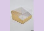 Коробка с пластиковым верхом NATURAL COSMETICS  7,5*7,5*5 см