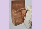 Пакет ПОДАРОЧНЫЙ бумажный  с окошком NATURAL COSMETICS  26,5*16,0*10,0 см/ крафт