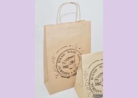 Пакет бумажный с крученными ручками/ крафт NATURAL COSMETICS 33*26*12 см